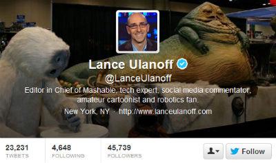 Mashable's Lance Ulanoff has fun with Yoda.