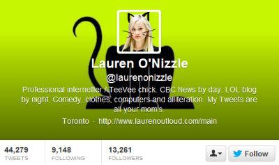 CBC correspondent and social media maven Lauren O'Nizzle expands her avatar's cat theme.