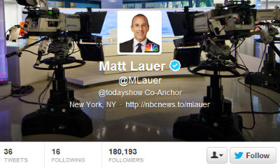 Twitter unveiled the new header image on The Today Show, using Matt Lauer's profile as an example.
