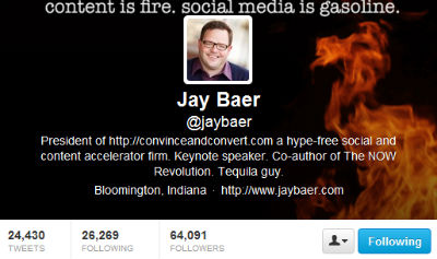 Jay Baer is using visuals to hammer home his message.