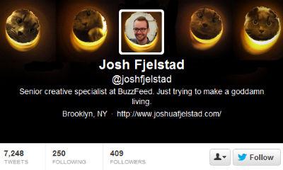 Creative director Josh Fjelstad knows cute cats wins the Internet.