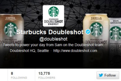 Starbucks is frequently updating their header to showcase different products