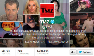 TMZ stays on brand, showcasing some of the most iconic images in gossip history.