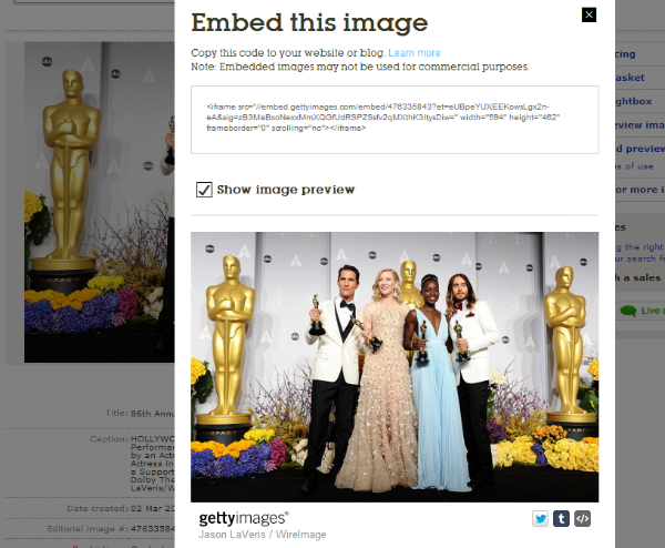 Getty Images Embed