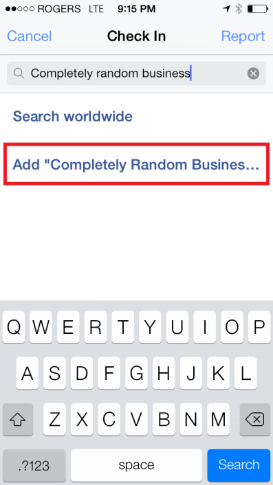 create a Facebook Place page