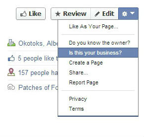 Claim Facebook Places page instructions