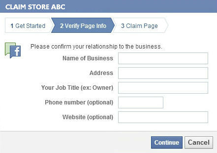 Claim Facebook