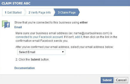 Facebook claiming Pages