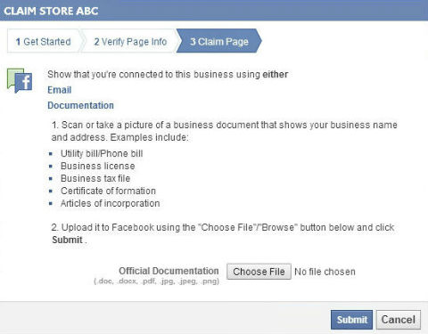 Claim Facebook Places Pages on Personal Writing Examples