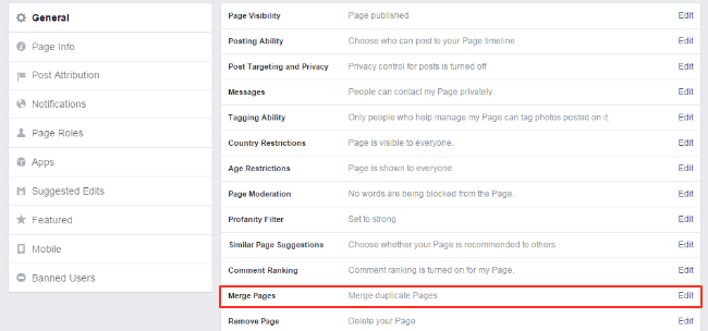 how to change facebook page look