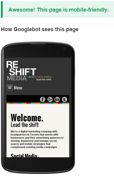 reshift google mob