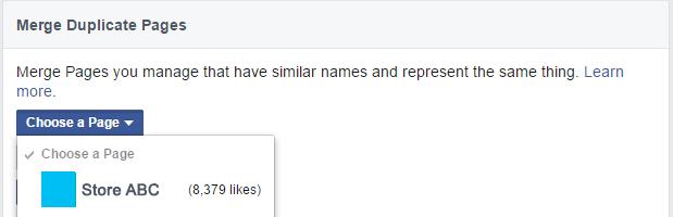 facebook page merge
