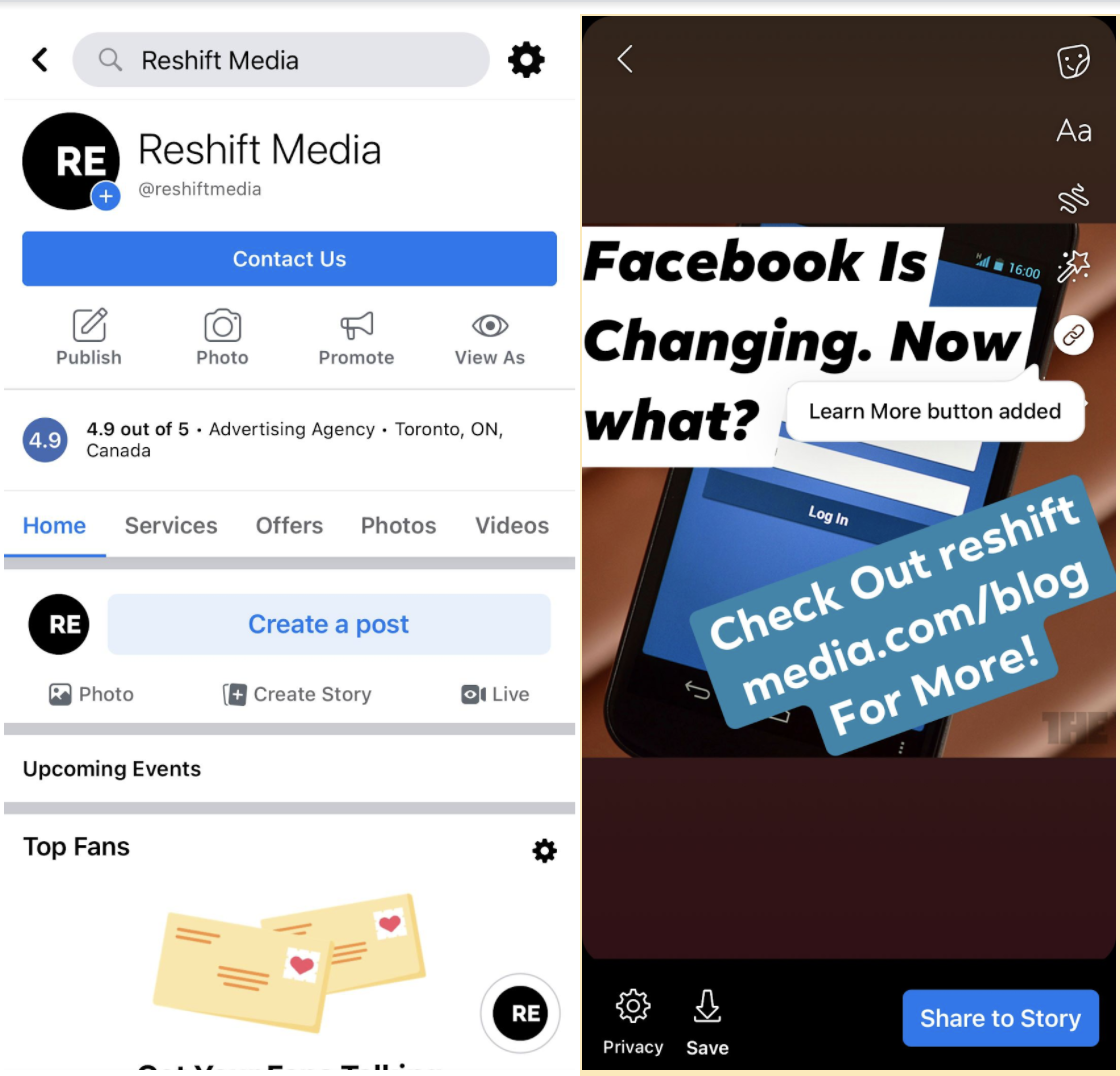 How to Create a Facebook Story on a Business Page