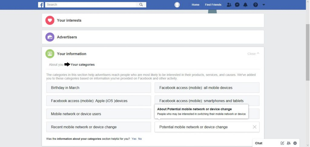 Facebook, fine-tuning, preferences, ads